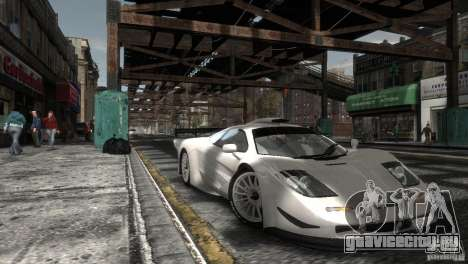McLaren F1 GTR Longtail для GTA 4 вид сзади