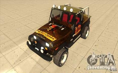 Jeep Wrangler 4.0 Fury 1986 для GTA San Andreas вид справа