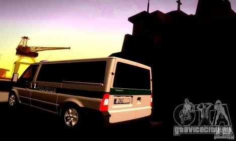 Ford Transit Policija для GTA San Andreas вид сзади слева