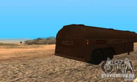 Прицеп к Duel Peterbilt для GTA San Andreas вид сзади слева