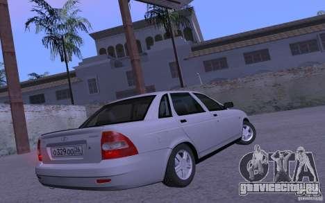 ВАЗ 2170 Priora Pnevmo для GTA San Andreas вид сзади слева