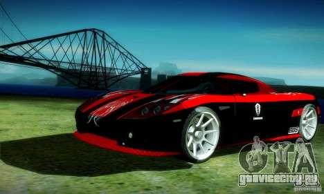 Koenigsegg CCX для GTA San Andreas вид изнутри