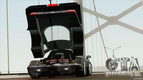 Mercedes-Benz CLK GTR Race Road Version Stock для GTA San Andreas вид справа