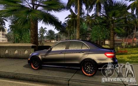 Mercedes Benz E63 DUB для GTA San Andreas вид сзади слева