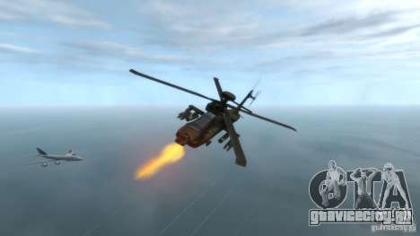 AH-64D Longbow Apache v1.0 для GTA 4 вид справа