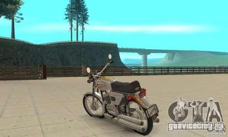 Ява 350 для GTA San Andreas вид сзади слева