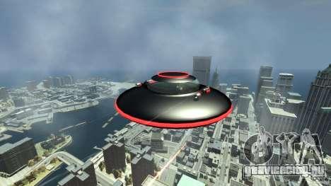 UFO neon ufo red для GTA 4 вид сзади