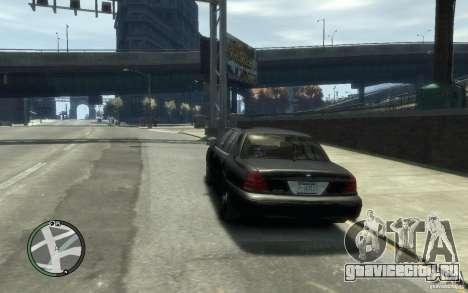 Crown Victoria для GTA 4 вид сзади слева
