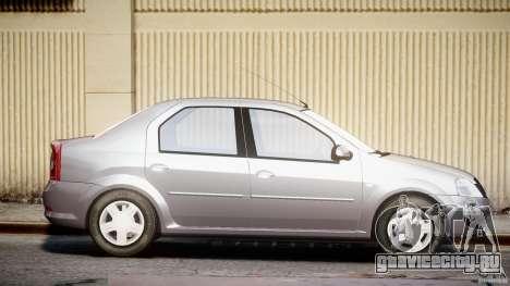 Dacia Logan v1.0 для GTA 4 вид сбоку