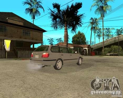Nissan Primera Traveller P11 для GTA San Andreas вид сзади слева