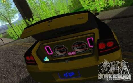 Dodge Charger SRT 8 для GTA San Andreas вид сверху