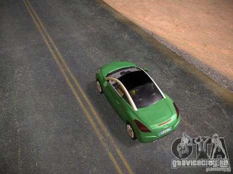 Peugeot RCZ 2010 для GTA San Andreas вид сзади слева