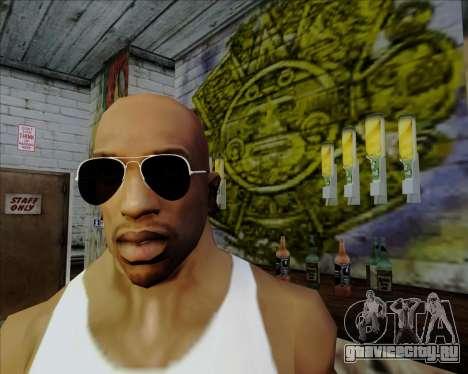Чёрные очки Авиатор для GTA San Andreas четвёртый скриншот