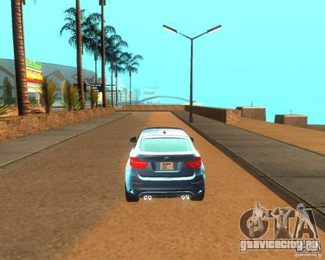 BMW Motorsport X6 M v. 2.0 для GTA San Andreas вид справа