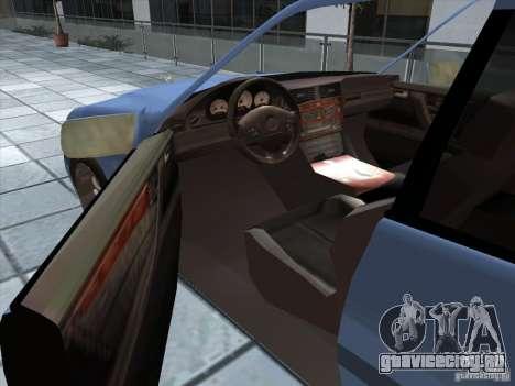 Mercedes Benz C220 для GTA San Andreas вид сзади