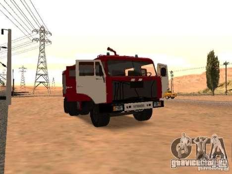 КамАЗ 53229 Пожарный для GTA San Andreas вид сзади слева