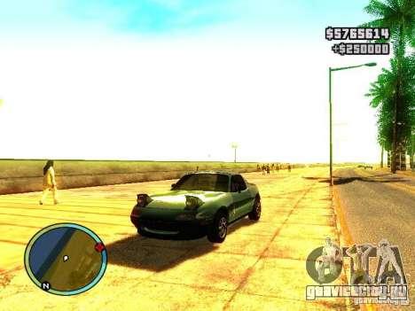 Mazda Miata 1994 для GTA San Andreas вид слева