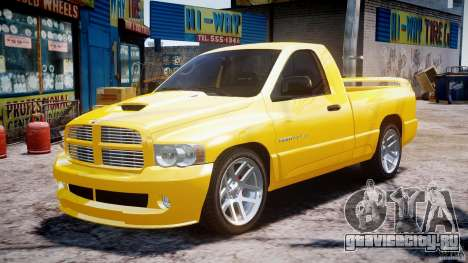 Dodge Ram SRT-10 2003 1.0 для GTA 4 вид сзади