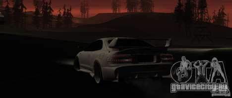 Toyota Celica 1993 Light tuning для GTA San Andreas вид сзади слева