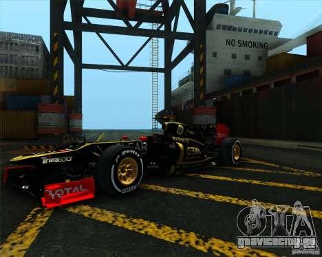 Lotus E20 F1 2012 для GTA San Andreas вид справа