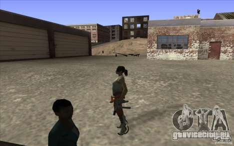 Chell from Portal 2 для GTA San Andreas третий скриншот