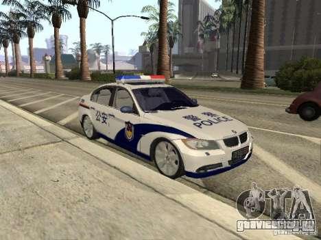 BMW 3 Series China Police для GTA San Andreas вид сзади слева