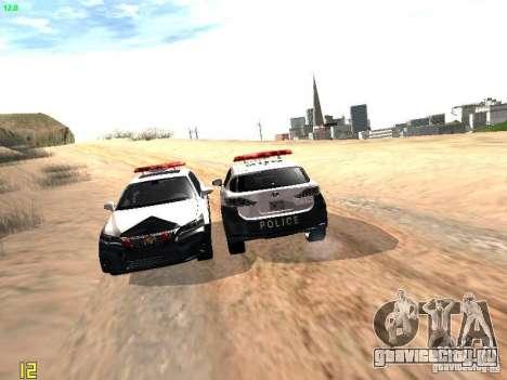 Lexus CT200H Japanese Police для GTA San Andreas вид снизу