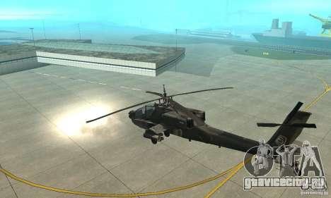 АН-64 Apache для GTA San Andreas вид сзади