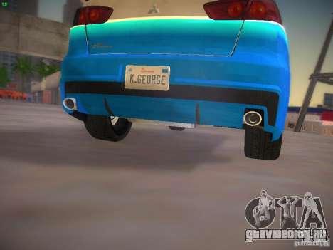 Mitsubishi Lancer Evo X Tunable для GTA San Andreas салон