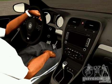 Volkswagen Golf R 2010 для GTA San Andreas вид сзади