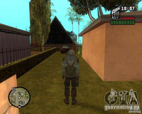 Сталкер из Чистого Неба для GTA San Andreas третий скриншот