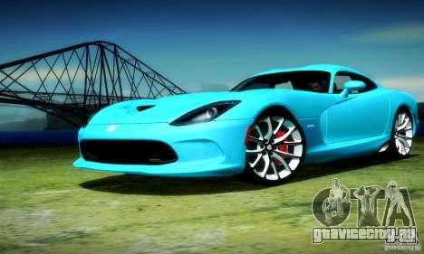 Dodge Viper SRT  GTS для GTA San Andreas вид сзади