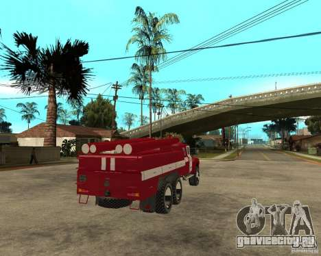 Зил 133ГЯ АЦ пожарный для GTA San Andreas вид сзади слева