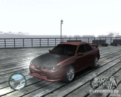Subaru Impreza WRX STI 2006 для GTA 4 вид слева