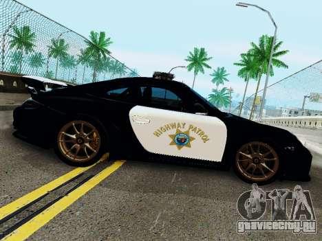 Porsche 911 GT2 RS (997) Police для GTA San Andreas вид сзади слева