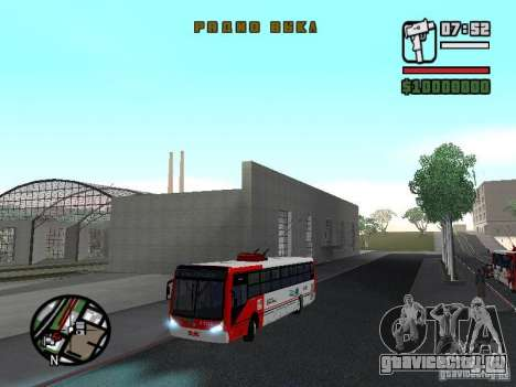 Caio Millennium TroleBus для GTA San Andreas вид сбоку
