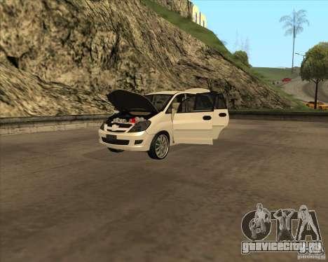 Toyota Innova для GTA San Andreas вид сбоку