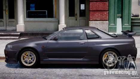 Nissan Skyline GT-R 34 V-Spec для GTA 4 вид сзади слева
