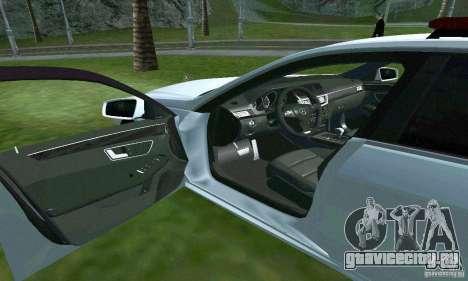 Mercedes-Benz E63 ДПС для GTA San Andreas вид сверху