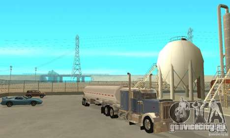 Peterbilt 379 Custom And Tanker Trailer для GTA San Andreas