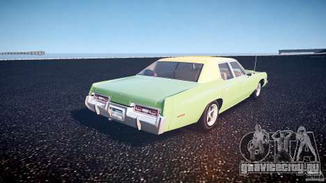 Dodge Monaco 1974 для GTA 4 вид сзади слева