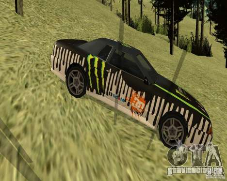 Monster Energy Vinyl для GTA San Andreas вид слева