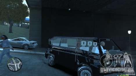 Volkswagen Transporter T3 для GTA 4 вид сверху