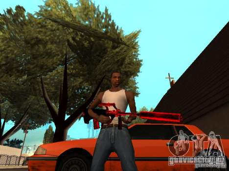 Red Chrome Weapon Pack для GTA San Andreas восьмой скриншот