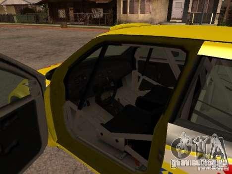 Suzuki Swift Rally для GTA San Andreas вид изнутри