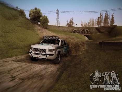 Honda Ridgeline Baja White для GTA San Andreas вид справа