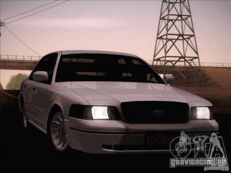 Ford Crown Victoria Interceptor для GTA San Andreas вид сверху