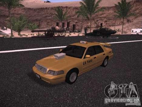 Ford Crown Victoria Taxi 2003 для GTA San Andreas вид изнутри