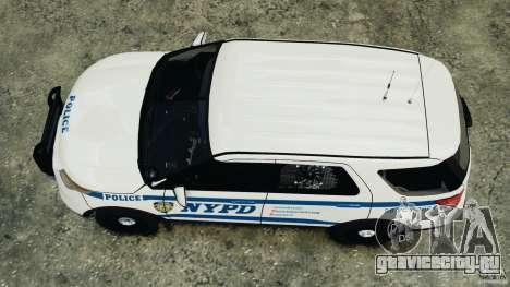 Ford Explorer NYPD ESU 2013 [ELS] для GTA 4 вид справа