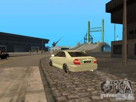 Toyota Camry 2003 для GTA San Andreas вид сзади слева